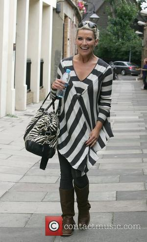 Zoe Lucker arrives at a dance studio to rehearse for the new series of Strictly Come Dancing London, England -...