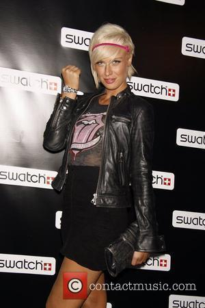 CariDee English Release party for the CreArt By Swatch Timepiece Collection designed by Billy the Artist-Arrivals New York City, USA...