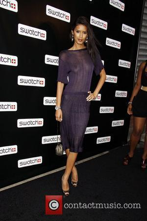 Jaslene Gonzalez Release party for the CreArt By Swatch Timepiece Collection designed by Billy the Artist-Arrivals New York City, USA...