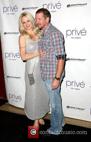 Actress Teri Polo, with Jamie Wollam, as she celebrates her birthday at Prive nightclub at the Planet Hollywood Resort Hotel...