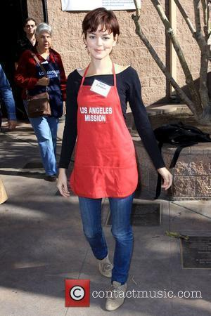 Nora Zehetner Kirk Douglas and Anne Douglas host the '5th Annual Thanksgiving Meal for the Homeless' held at the Los...