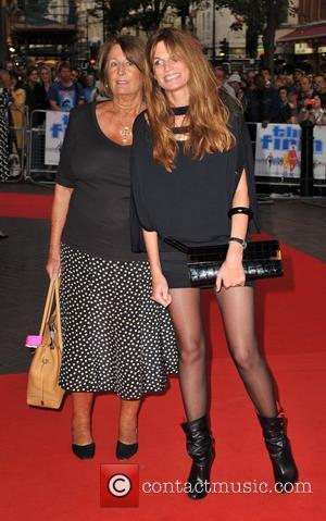 Jemima Khan and Lady Annabell Goldsmith The Firm - UK film premiere held at the Vue West End. London, England...