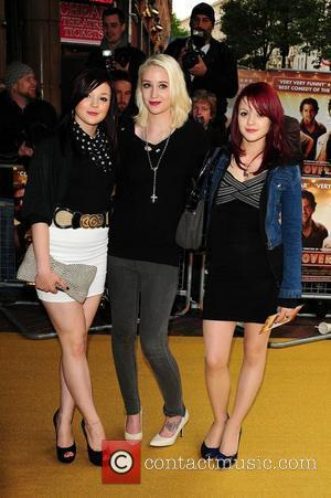 Kathryn Prescott, Lily Loveless and Megan Prescott UK Premiere of 'The Hangover' held at Vue West End - Arrivals London,...