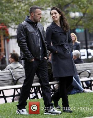Ben Affleck and Rebecca Hall on the set of 'The Town' filming in Copley Square Boston, Massachusetts - 01.10.09