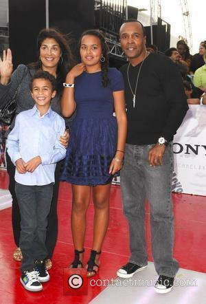 Sugar Ray Leonard and family Michael Jackson's 'This Is It' Premiere at the Nokia Theatre - Arrivals Los Angeles, Cailfornia...