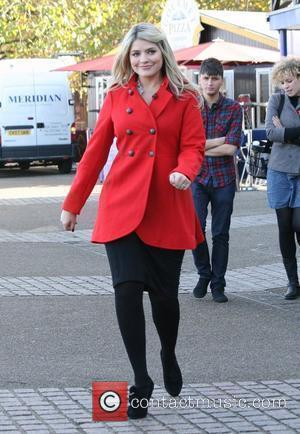 Holly Willoughby  outside to present a segment of ITV's 'This Morning' London, England - 04.11.09
