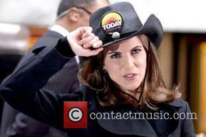 Natalie Morales Tim McGraw performing live on the 'Today Show's Concert Series' at Rockefeller Plaza New York City, USA -...