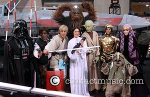 Ann Curry, Al Roker, Matt Lauer, Meredith Vieira and Star Wars
