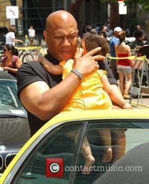 Tommy Tiny Lister leaves The Hard Rock Hotel with his family San Diego, California - 24.07.09