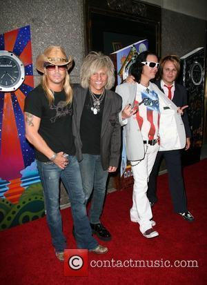 Bret Michaels, CC Deville, Bobby Dall and Rikki Rocket of Poison The 63rd Tony Awards held at the Radio City...