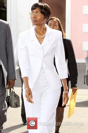 Former Bahamas Senator Pleasant Bridgewater outside court...