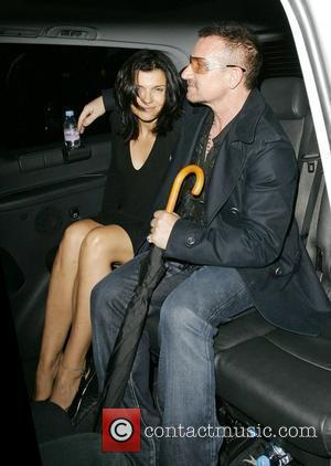 Bono and Ali Hewson leave Home House Private Members Club after party for U2's Portman Square secret show London, England...