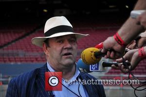 Paul McGuinness manager of U2  holds a press conference prior to the upcoming U2 concert at the Nou Camp...