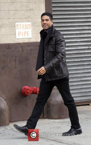 Adam Rodriguez taking a break from filming the TV show 'Ugly Betty'  New York City, USA - 16.11.09