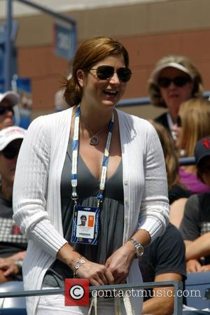 Roger Federer's wife Mirka Vavrinec 2009 US Tennis Open - Day 1 - at the USTA Billie Jean King National...