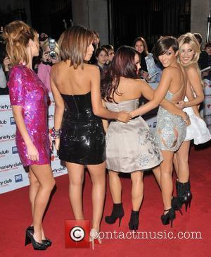 Frankie Sandford, Una Healy, Vanessa White, Rochelle Wiseman and Mollie King of The Saturdays Variety Club Showbiz Awards held at...