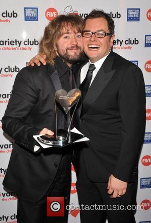 Justin Lee Collins and Alan Carr Variety Club Showbiz Awards held at the Grosvenor House - Press Room London, England...