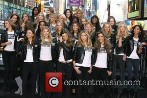Miranda Kerr, Behati Prinsloo, Marisa Miller, Heidi Klum, Alessandra Ambrosio Victoria's Secret Angels take over Times Square to promote the...