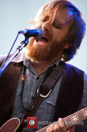 The Black Keys - Dan Auerbach on Guitar  play the Playstation stage on day 1 at the 'Voodoo Music...