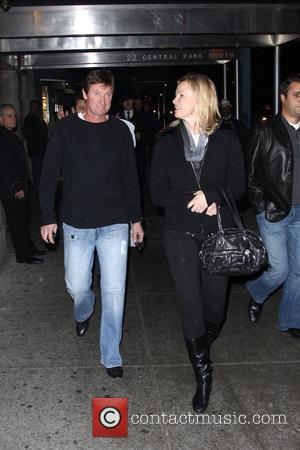 Wayne Gretzky and Janet Jones seen together on an evening out in Midtown. New York City, USA - 02.12.09