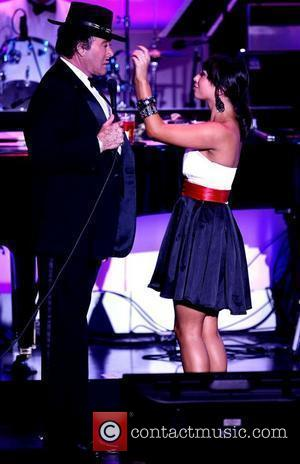 Wayne Newton and Cheryl Burke Mr Las Vegas, Wayne Newton performing in his new show Once Before I Go premiere...