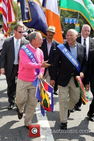 Michael Bloomberg and General Colin Powell