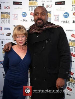 Hannah Waterman and Lenny Henry
