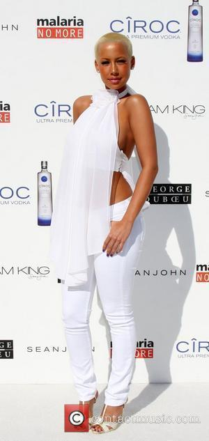 Amber Rose The Annual White Party held at a private residence in Beverly Hills - Arrivals California, USA - 04.07.09
