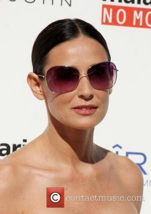 Demi Moore The Annual White Party held at a private residence in Beverly Hills - Arrivals California, USA - 04.07.09