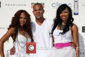 Megan Good, Dijon Talton, La'Myia Good The Annual White Party held at a private residence in Beverly Hills - Arrivals...