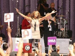 Diane Sawyer, Whitney Houston and Robin Roberts live on 'Good Morning America's Summer Concert Series' at Rumsey Playfield New York...