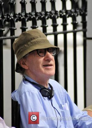 Woody Allen on the set of the 'Untitled Woody Allen London Project' London, England - 24.08.09