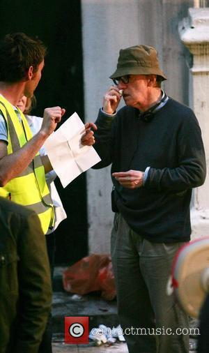 Woody Allen on the set of the 'Untitled Woody Allen London Project' filming on location London, England - 31.07.09