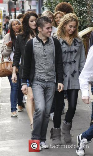 Joseph McElderry and Stacey Solomon The 'X Factor' contestants are seen going to Ronnie Scotts in Soho London, England -...