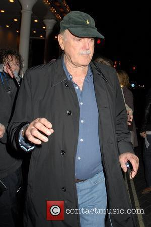 John Cleese leaves The 24 Hour Plays Celebrity Gala 2010 in aid of Old Vic New Voices at held at...