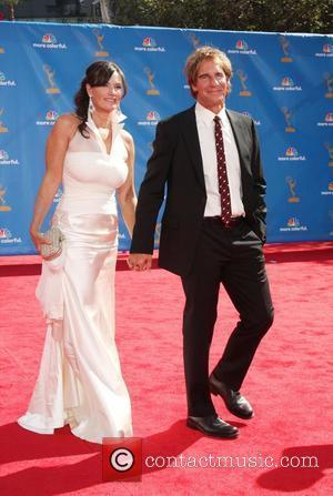 Scott Bakula and Chelsea Field arrive at the 62nd Annual Primetime Emmy Awards held at the Nokia Theatre L.A. Live...