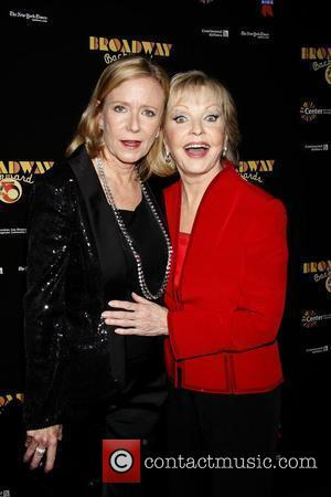 Eve Plumb and Florence Henderson from The Brady Bunch  Post show photo call for 'Broadway Backwards 5' to benefit...