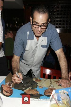 Tony Shalhoub Lend Me a Tenor' portrait unveiling at Tony's di Napoli Times Square Restaurant.  New York City, USA...