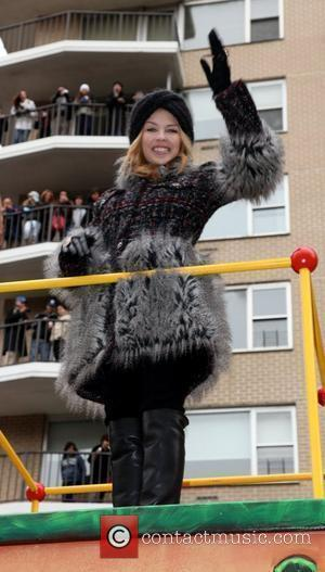 Kylie Minogue Performs At Macys Thanksgiving Parade