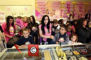 Octomom aka Nadia Suleman goes to Millions of Milkshakes to create her $14 Dollar shake, with 14 toppings, one for...