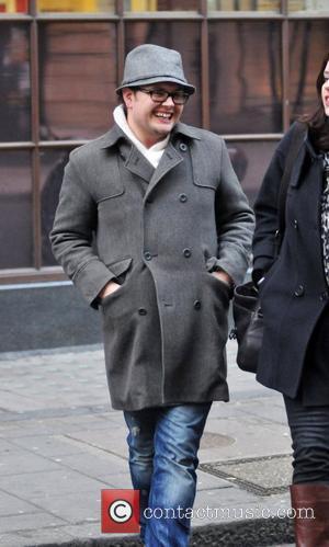 Alan Carr arriving at the BBC radio One Studios London, England - 13.12.10