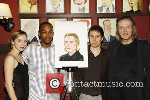 Zoe Kazan, Anthony Mackie, Sam Rockwell, and Christopher Walken attending the Sardi's caricature unveiling honoring Academy Award-winner Christopher Walken, star...