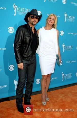 Tim McGraw and Faith Hill,  arrives for the 45th Annual Academy of Country Music Awards at the MGM Grand...