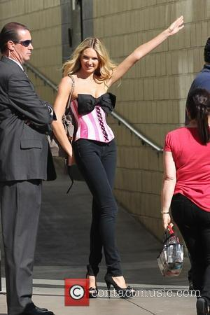 Victoria's Secret model Candice Swanepoel arriving at The Grove Los Angeles, California - 14.09.10