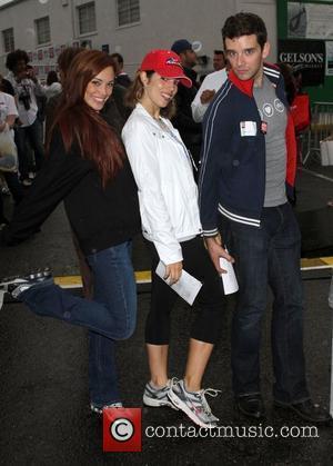Jessica Sutta, Ana Ortiz and Michael Urie