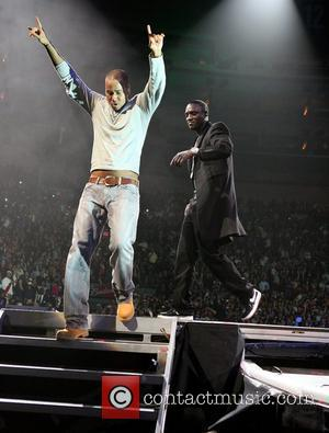 Romeo, Akon performing live in concert at Madison Square Gardens New York City, USA - 02.02.10