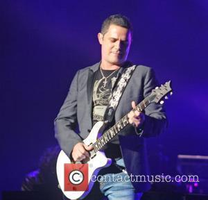 Alejandro Sanz performs live during his 'Paradise' tour at the Jose M Agrelot Coliseum in Hato Rey. San Juan, Puerto...