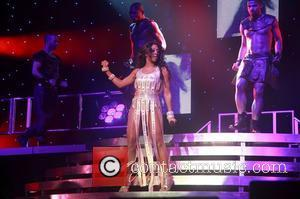 Alexandra Burke  performing live on stage as she kicks off her 'All Night Long' tour at the Waterfront Hall...
