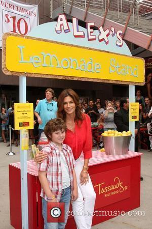 Nolan Gould and Cindy Crawford