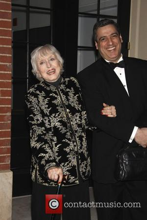 Celeste Holm and her husband Frank Basile  The opening night of 'Dame Edna and Michael Feinstein's All About Me'...